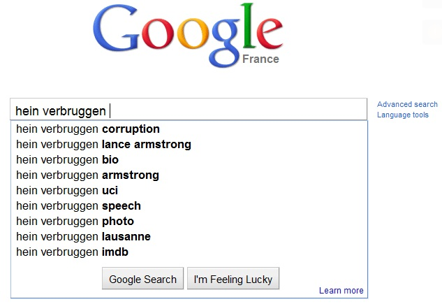 Verbruggen google search