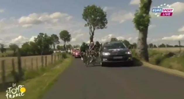 Hoogerland Flecha crash